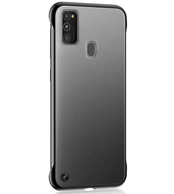 Samsung Galaxy M30s Ultra Slim Premium Frameless Transparent Hard Case (with Free Metal Ring)