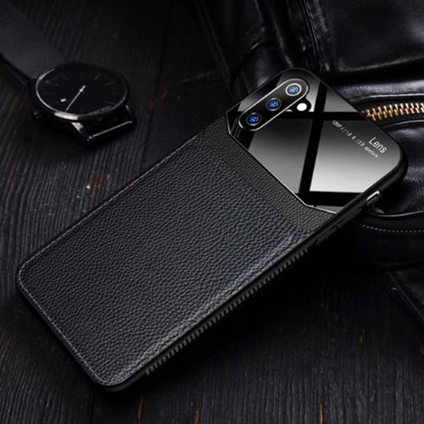 Samsung Galaxy Note 10 Plus Luxurious Design Half Glass Leather Ultra Slim Hard Case