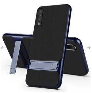 Samsung Galaxy A70 Luxurious Kickstand Full Protection Matte Hybrid Shell