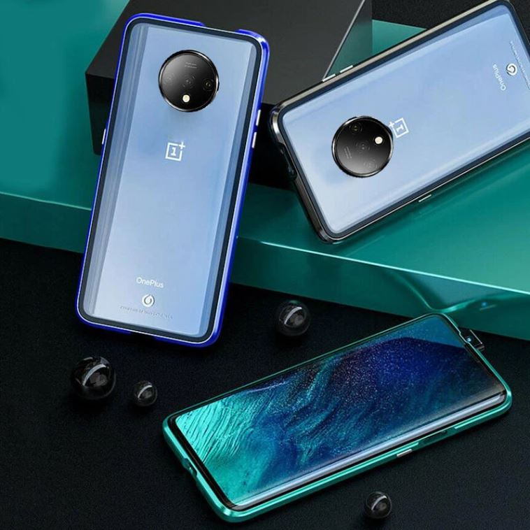 OnePlus 7T Magnetic Auto-Fit Aluminium Armoured Toughened Glass Case