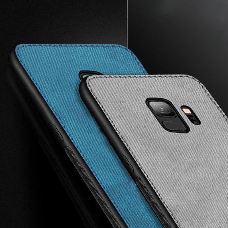 Samsung Galaxy J8 Ultra Slim Suede Fabric TPU Cloth Case