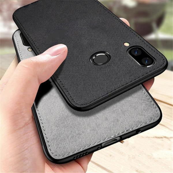 Samsung Galaxy A20 Ultra Slim Suede Fabric TPU Cloth Case