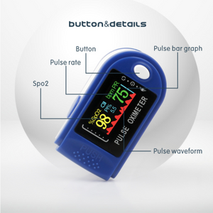 Genuine Digital OLED Fingertip Pulse Oximeter With Heart Rate Monitor