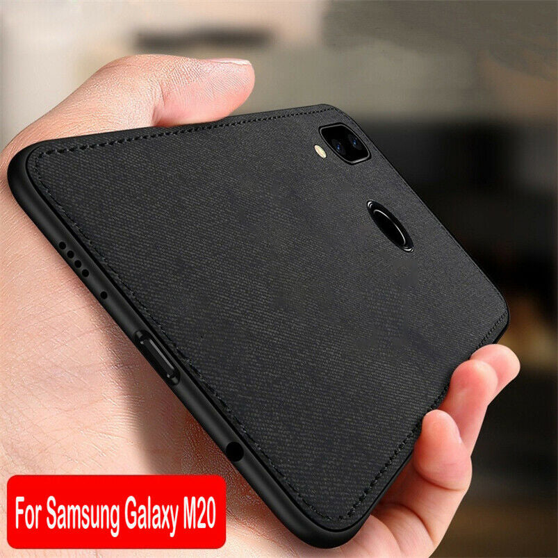 Samsung Galaxy A30 Ultra Slim Suede Fabric TPU Cloth Case