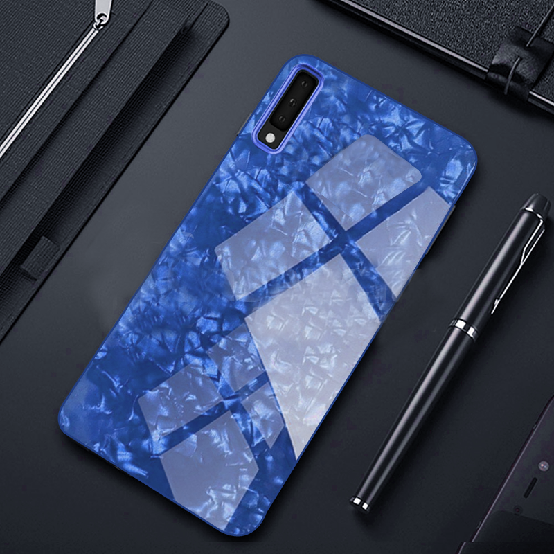 Samsung Galaxy A50/A50s/A30s Ultra Slim Toughened Marble Glass Case