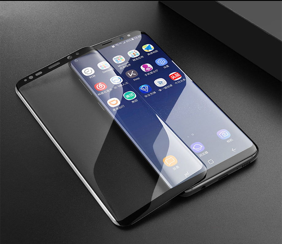 samsung galaxy s9 plus 100 original curved tempered glass. Black Bedroom Furniture Sets. Home Design Ideas