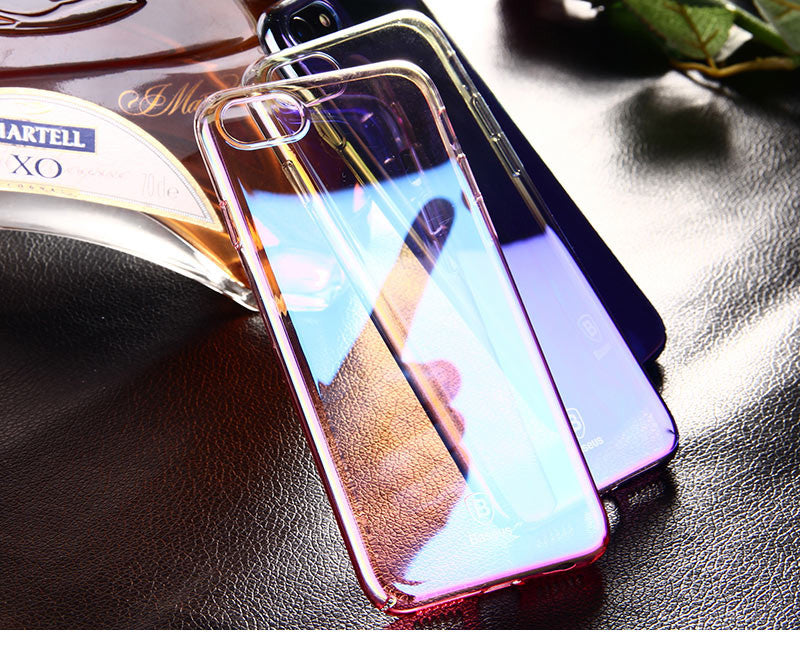 Apple iPhone 6/6S Luxurious Gradient Color Dirt Resistant Transparent Hard Back Cover