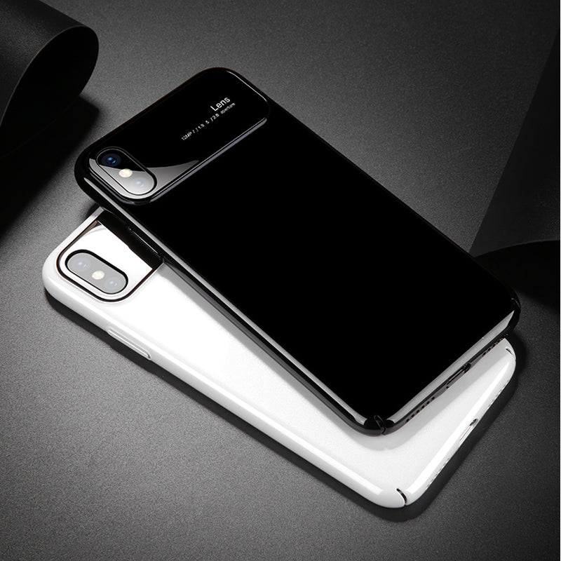 iPhone 7/8 Luxurious Design Half Glass Shockproof Ultra Slim Hard Case