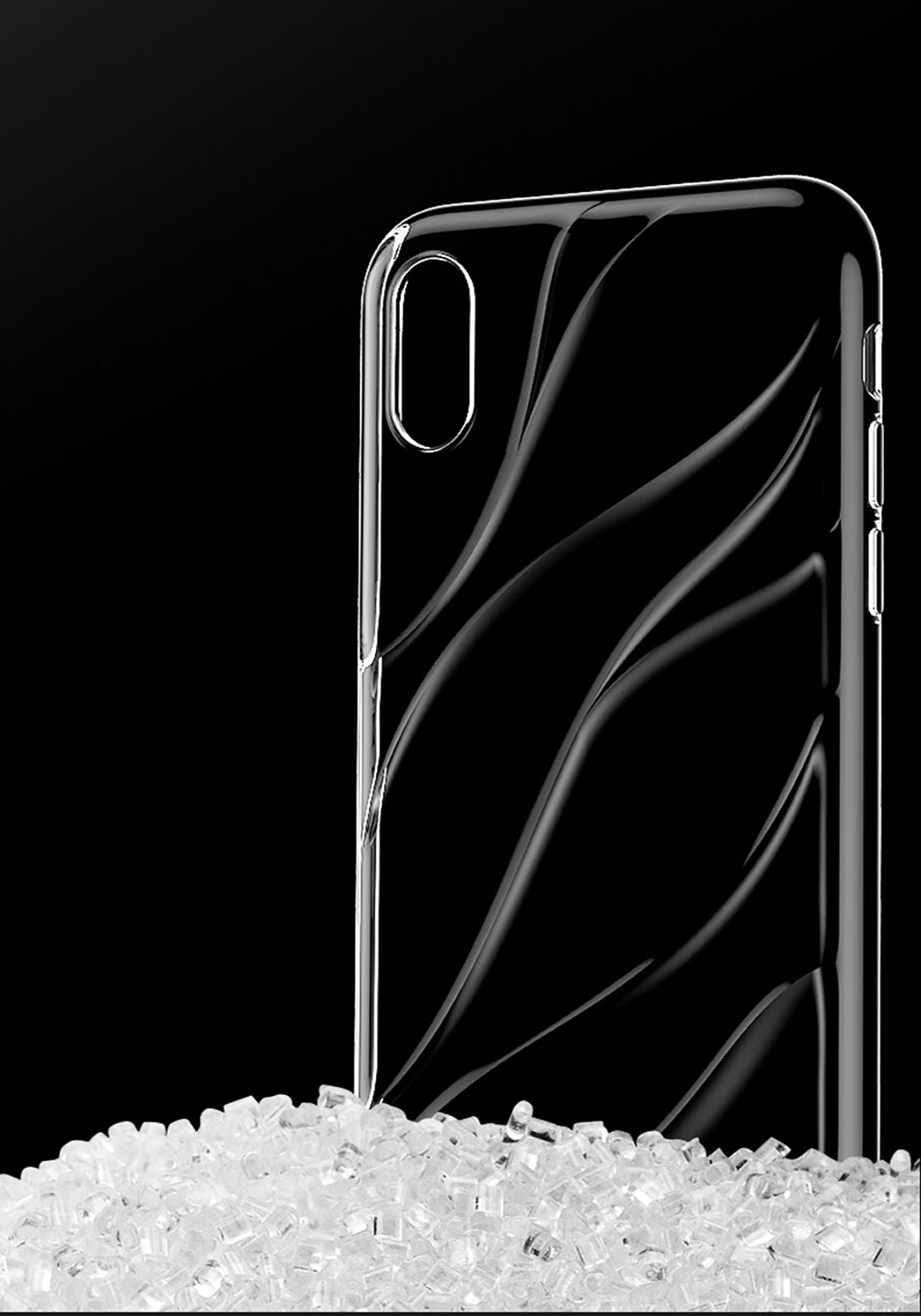 Apple iPhone X/Xs Baseus Water Series Luxurious Design Protective Silicone Case