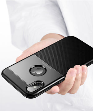 Apple iPhone X/Xs Luxurious 2 in 1 Hybrid Armor Soft TPU+PC Case