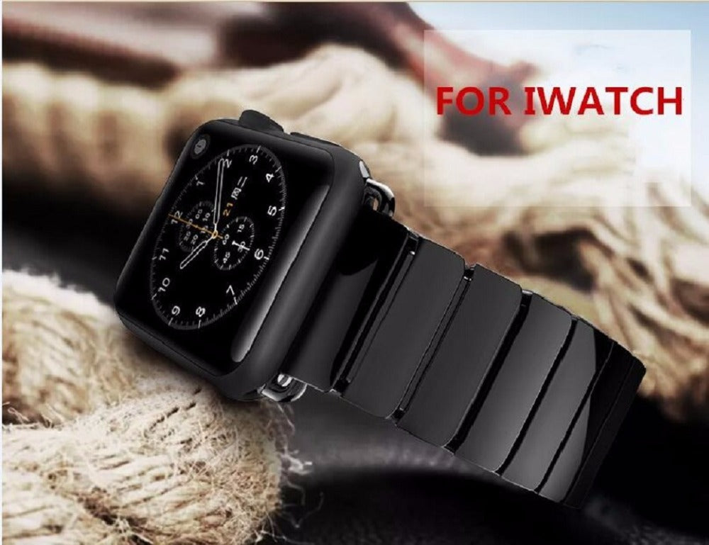 Apple iWatch 42mm Luxurious Ceramic Bracelet Titanium Black Strap (Watch not Included)