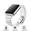 Apple iWatch 42mm Luxurious Ceramic Bracelet Pearl White Strap (Watch not Included)