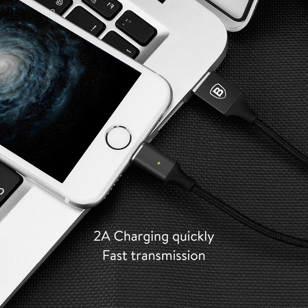 Baseus Ultra Fast Unbreakable Metal Magnetic Charging Data Cable For Apple iPhone