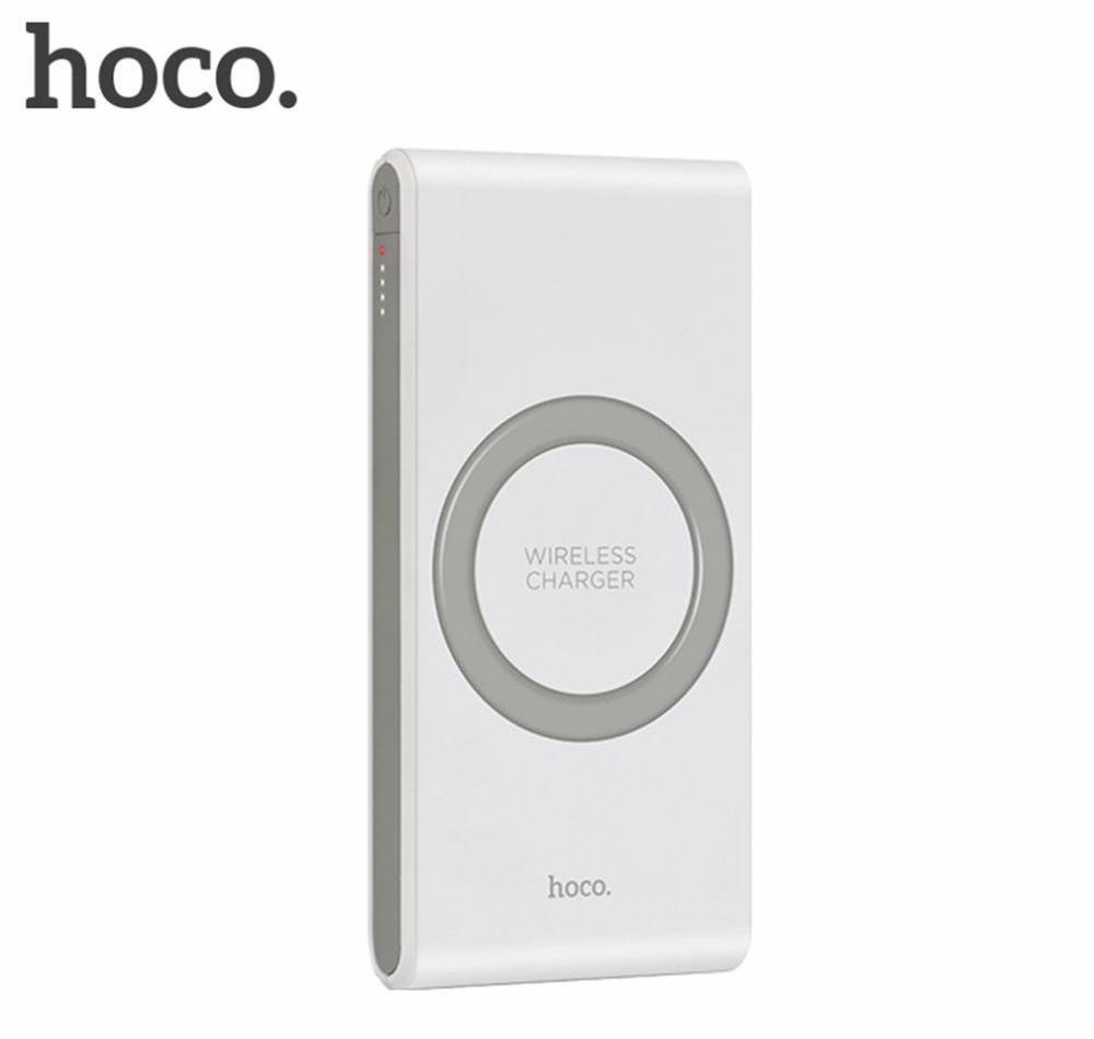 Hoco 8,000 mAh Wireless Charging Power Bank for Apple, Samsung and Other QI-Enabled Devices