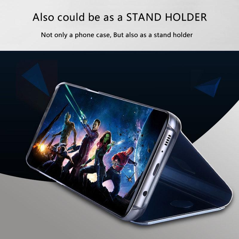 One Plus 5T Clear View Dynamic Standing Mirror Flip Cover (Non Sensor Working)