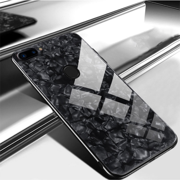 OnePlus 5T Ultra Slim Toughened Marble Glass Case