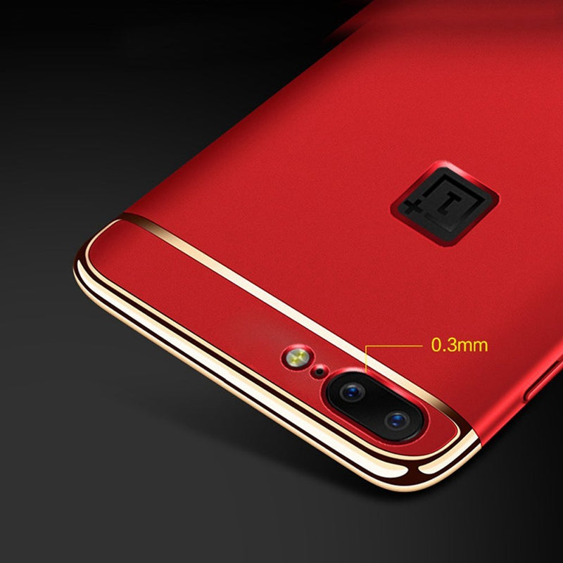 OnePlus 5 Luxurious Electroplated 3 in 1 Hard Back Case