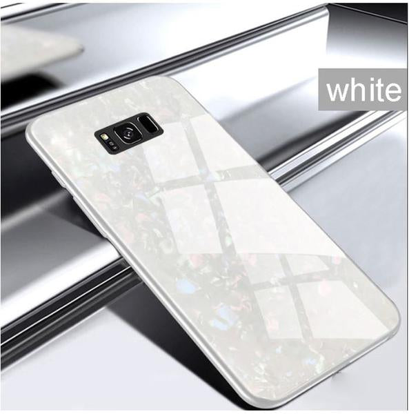 Samsung Galaxy S8 Plus Ultra Slim Toughened Marble Glass Case