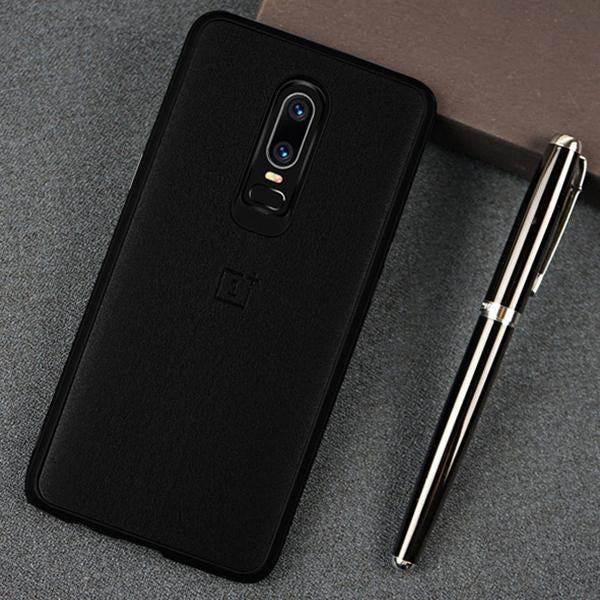 OnePlus 6T Ultra Slim Official PU Leather Matte TPU Back Cover