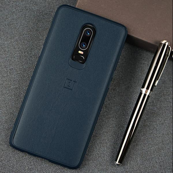 OnePlus 6 Ultra Slim Official PU Leather Matte TPU Back Cover