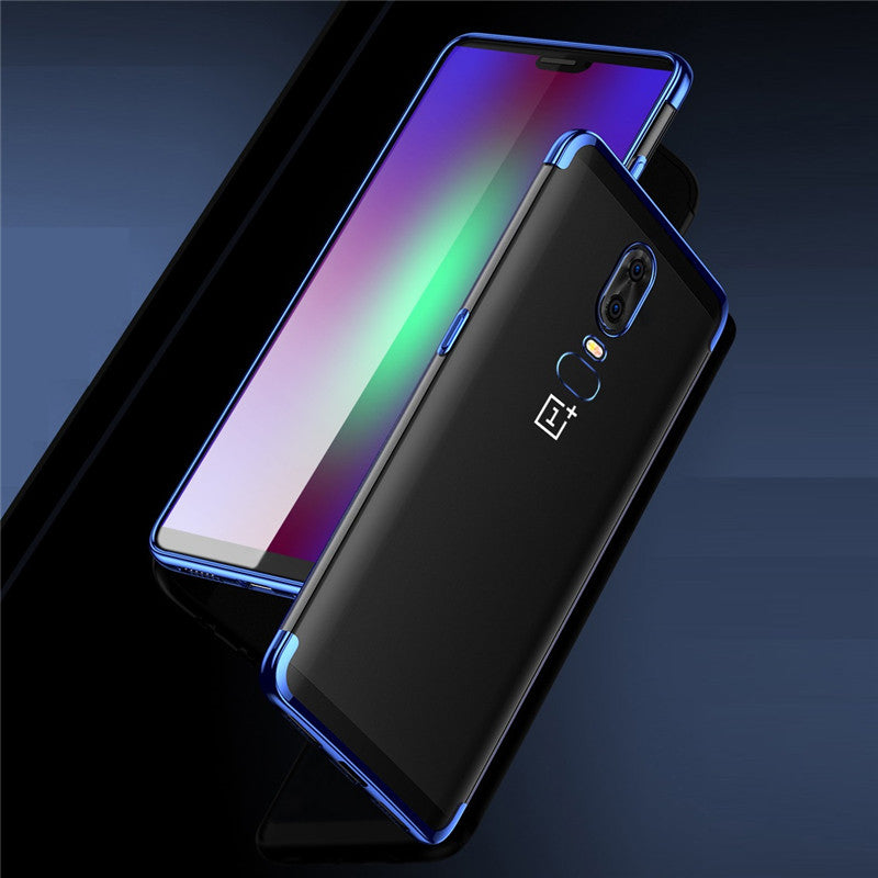 OnePlus 6 Ultra Thin Transparent Luxurious Glitter Hard Case