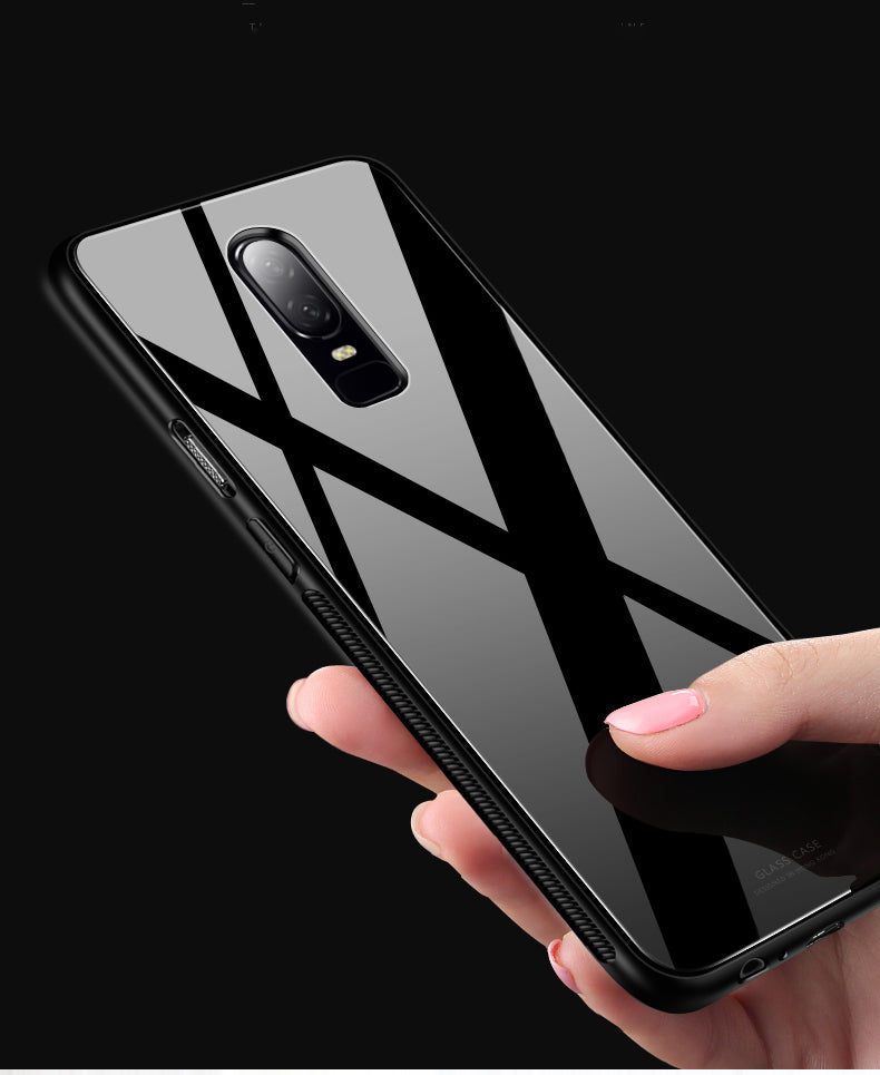 new arrival b6546 9bd5d OnePlus 6 Toughened 5D Back Glass Wireless Edition Ultra Slim Case ...