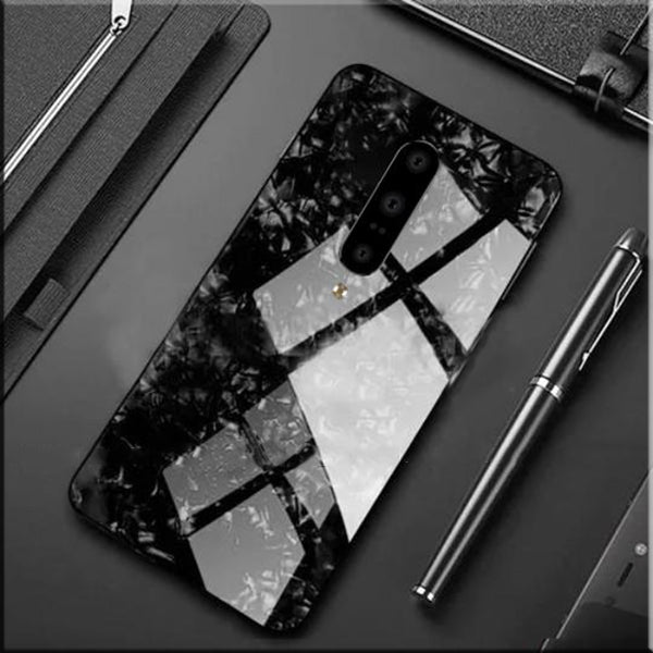 OnePlus 7 Pro Ultra Slim Toughened Marble Glass Case