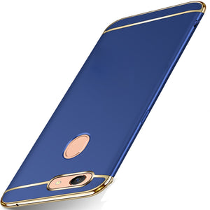 Oppo F7 Luxurious Electroplated 3 in 1 Hard Back Case