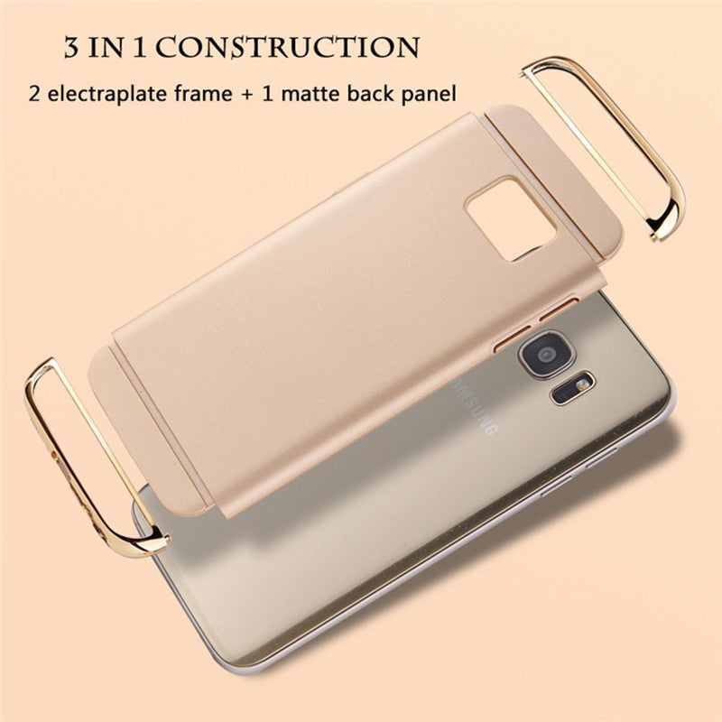 Samsung Galaxy S7 Edge Luxurious Electroplated 3 in 1 Hard Back Case