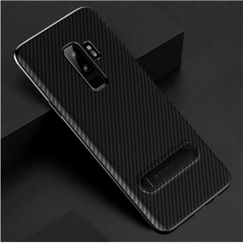 Samsung Galaxy S9 Plus Totu Ultra Slim Kickstand Carbon Fibre Back