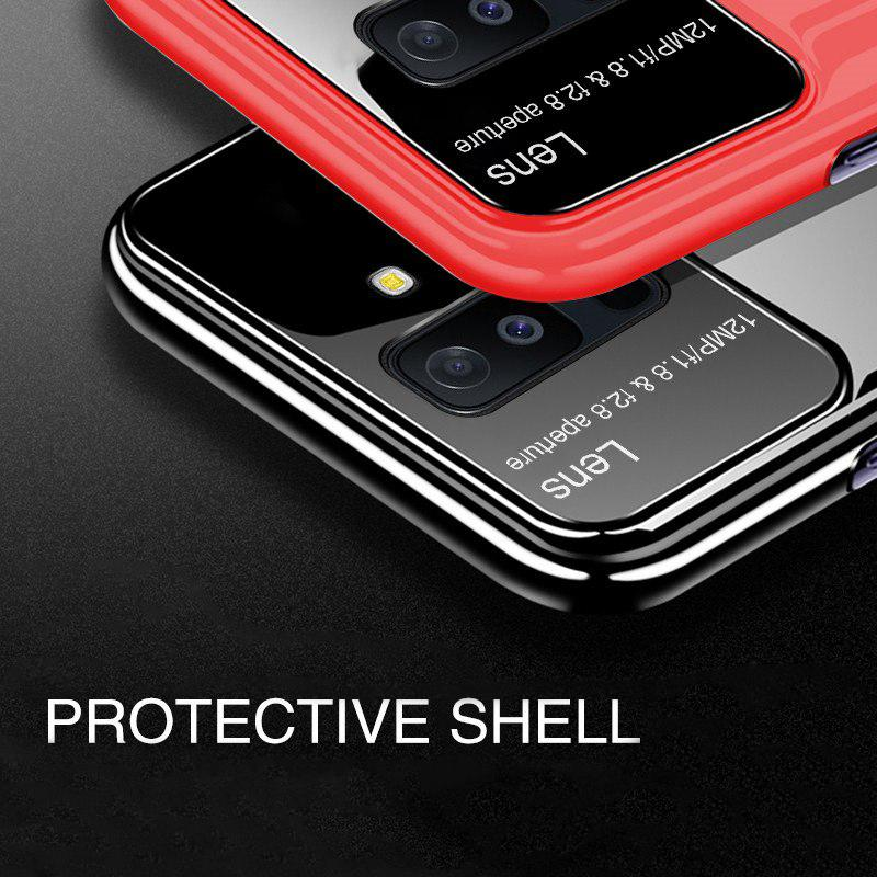 Samsung Galaxy A6 Plus Luxurious Design Half Glass Shockproof Ultra Slim Hard Case
