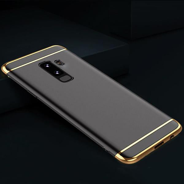Samsung Galaxy J8 Luxurious Electroplated 3 in 1 Hard Back Case
