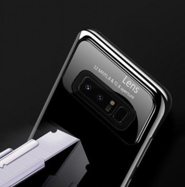 Samsung Galaxy Note 8 Luxurious Design Half Glass Shockproof Ultra Slim Hard Case