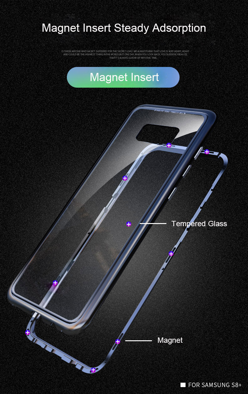 Samsung Galaxy S8 Plus Magnetic Auto-Fit 360 Degrees Armoured Case
