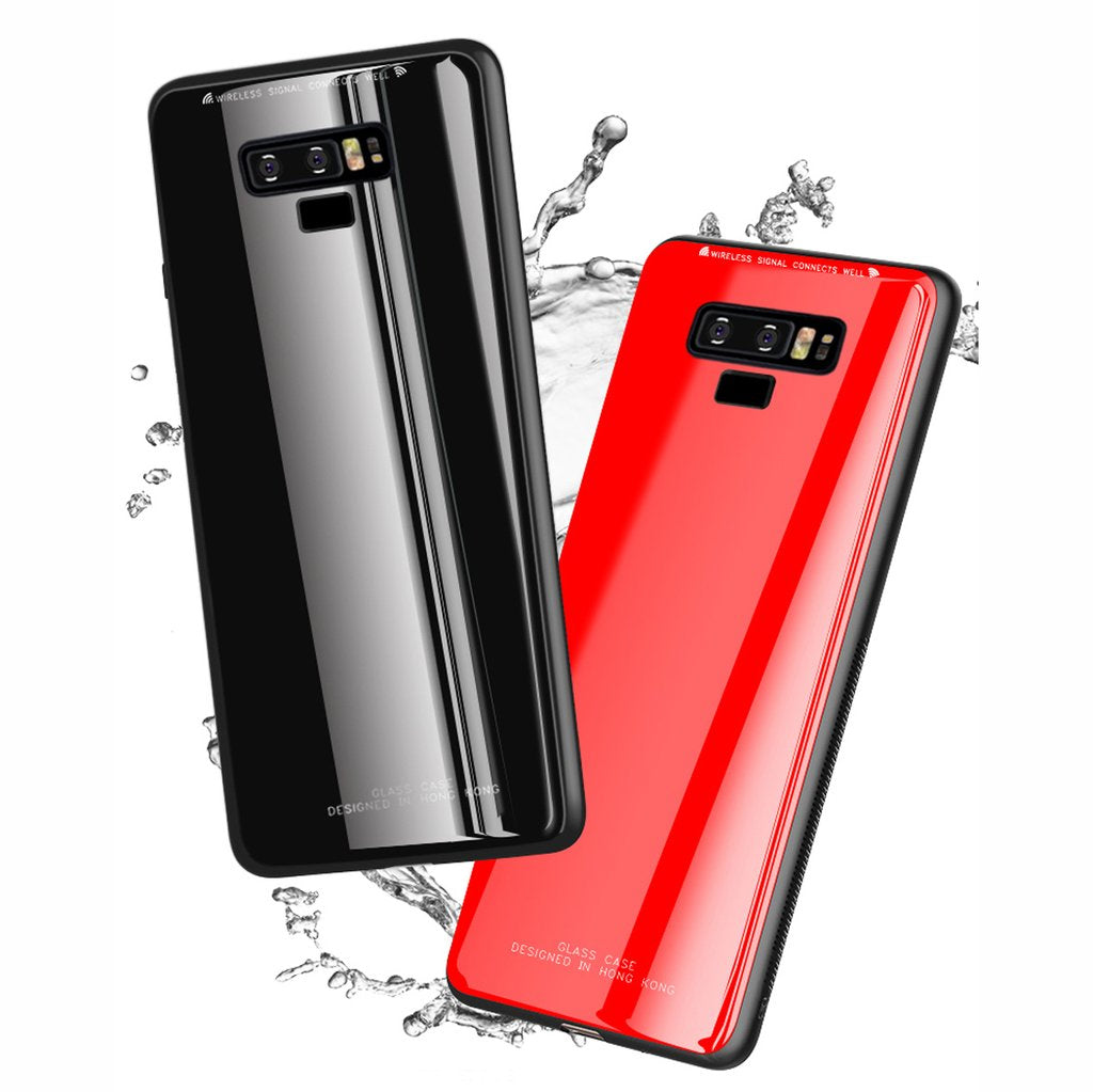Samsung Galaxy Note 9 Toughened 5D Back Glass Wireless Edition Ultra Slim Case (With Free 4D Tempered Glass)