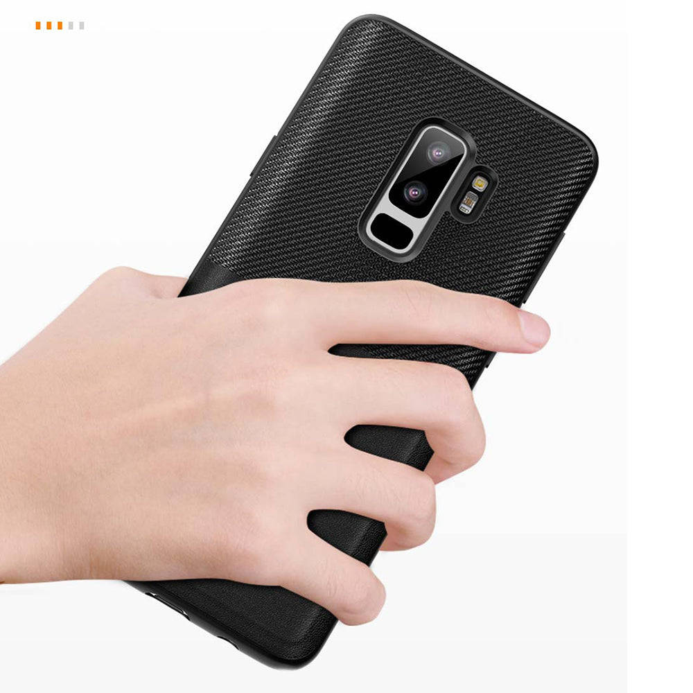 Samsung Galaxy S9 Plus TOTU Design Card Holder Leather Touch Case