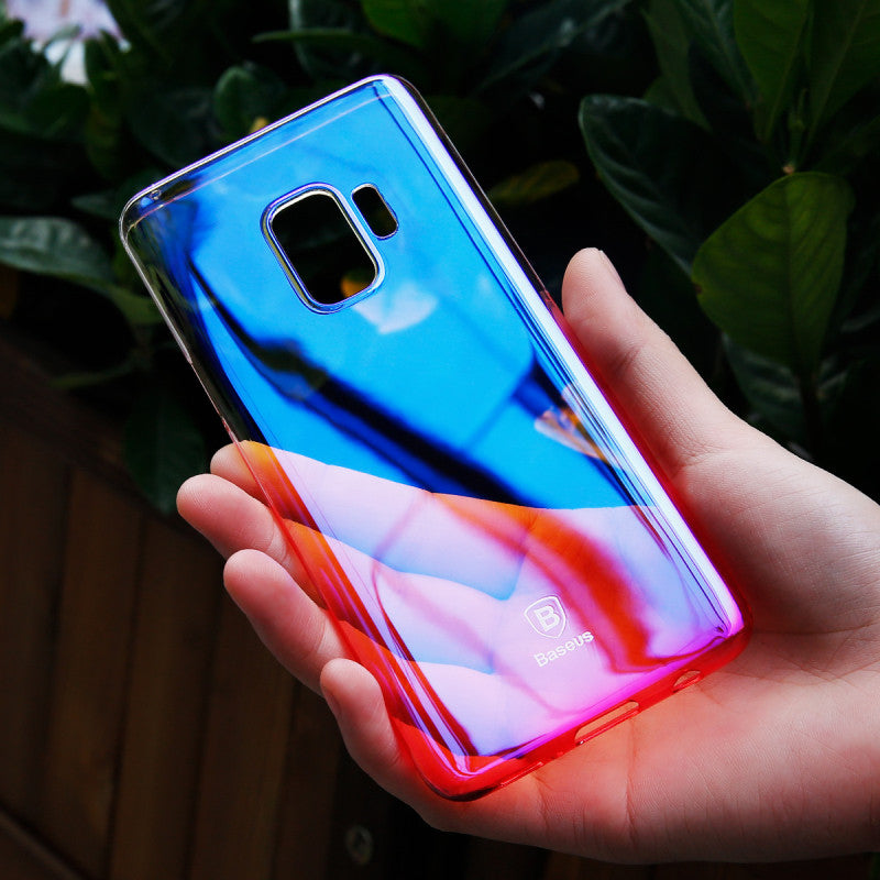 Samsung Galaxy S9 Plus Luxurious Gradient Color Ultra Slim Glaze Hard Case