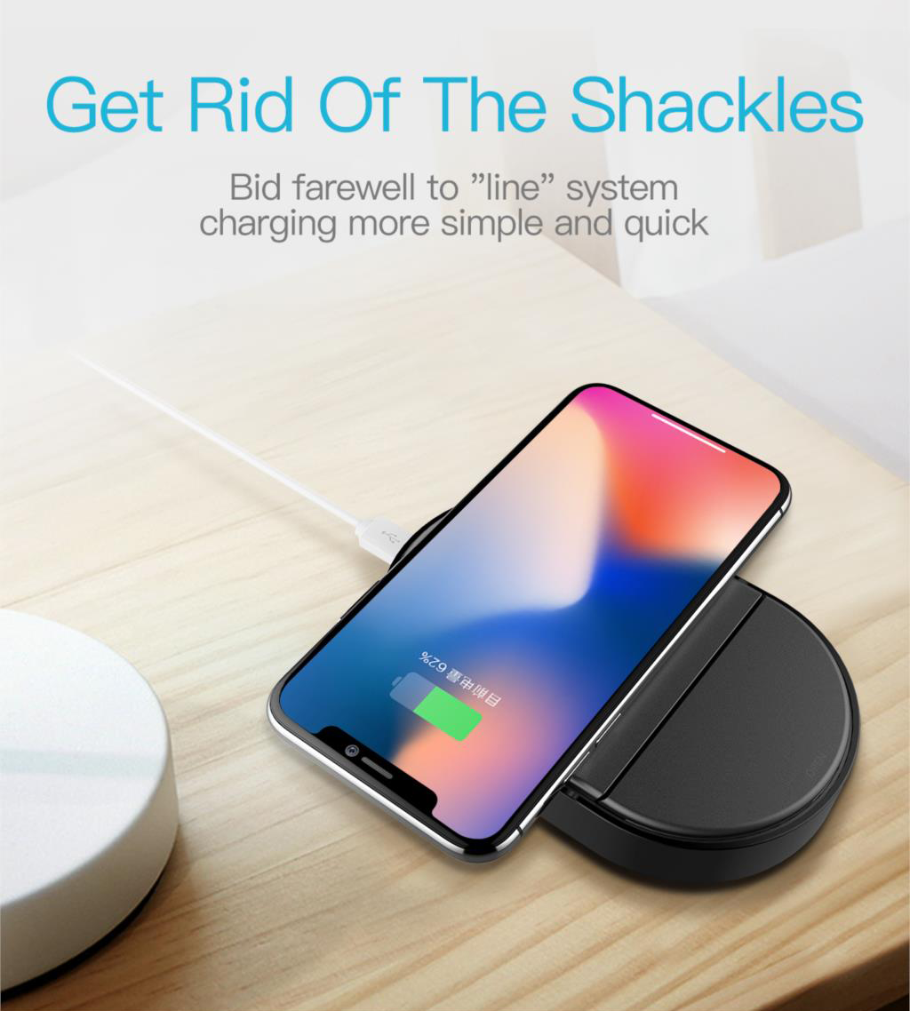 Totu 2 in 1 Wireless Charger Cum Charging Dock for Apple iPhone and all QI enabled devices