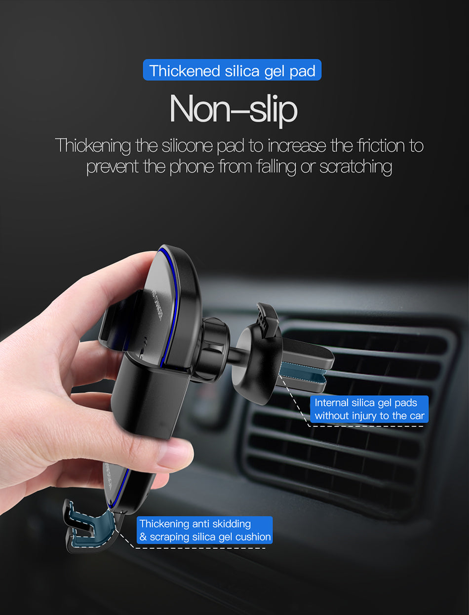 Totu Hi-Speed Wireless Car Smartphone Charger for Apple, Samsung and Other QI-Enabled Devices
