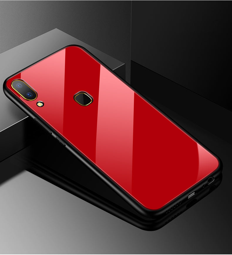 Vivo V9 Toughened 5D Back Glass Wireless Edition Ultra Slim Case
