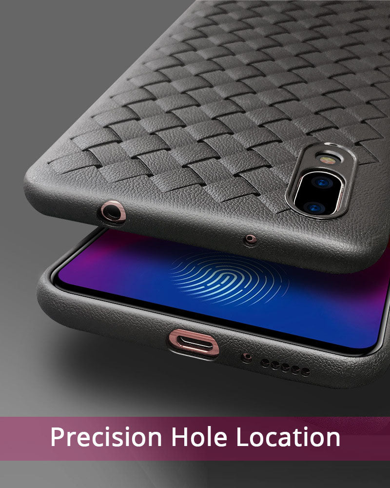 Vivo V9 Luxurious Ultra Soft TPU Black Weave Series Cover