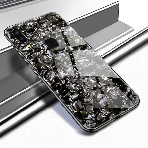 VIVO Y91 Ultra Slim Toughened Marble Glass Case