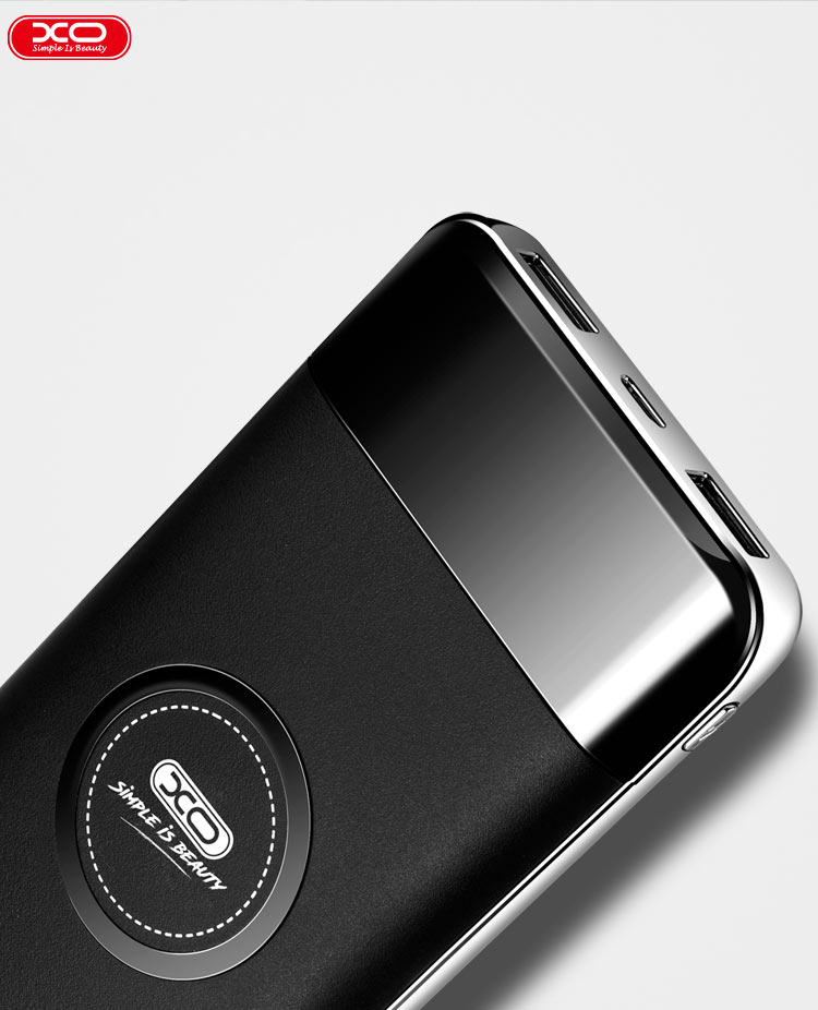 XO 10,000 mAh Wireless Charging Power Bank for Apple, Samsung and Other QI-Enabled Devices