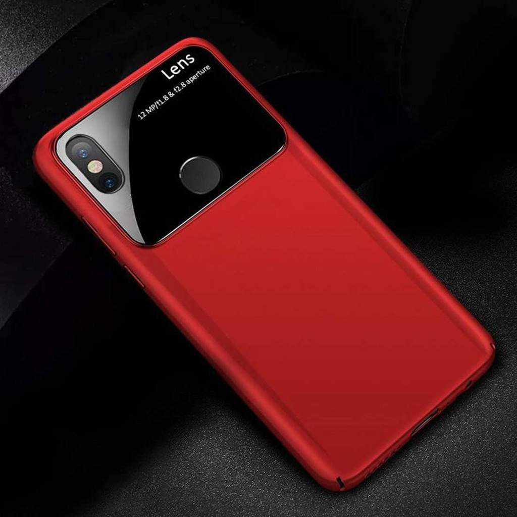 Redmi Note 6 Pro Luxurious Design Half Glass Shockproof Ultra Slim Hard Case
