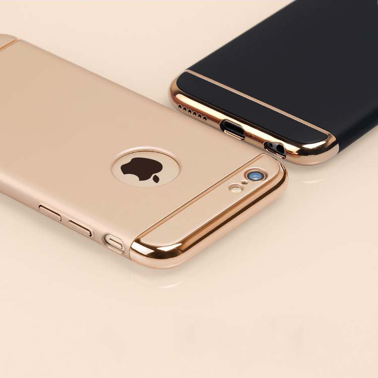 Apple iPhone 6/6S Luxurious Electroplated 3 in 1 Hard Back Case