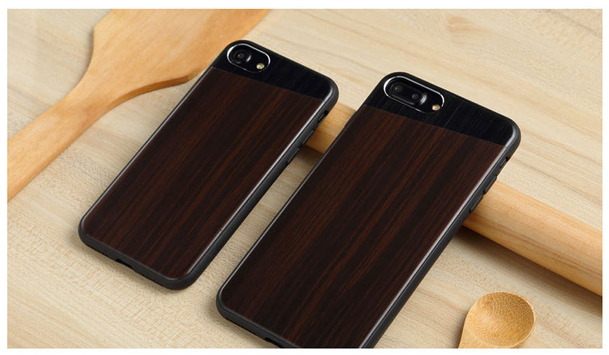 Apple iPhone 7 Plus / 8 Plus Totu Luxurious Metal cum Wooden Grain Hard Case