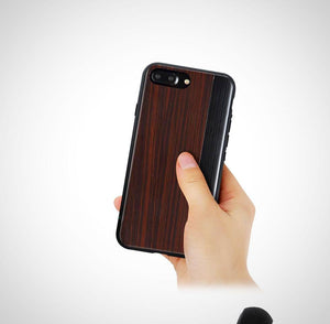 Apple iPhone 7 Plus / 8 Plus Totu Jazz Luxurious Wooden Grain Hard Case