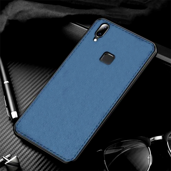 Samsung Galaxy M20 Ultra Slim Suede Fabric TPU Cloth Case (With Free 5D Tempered)