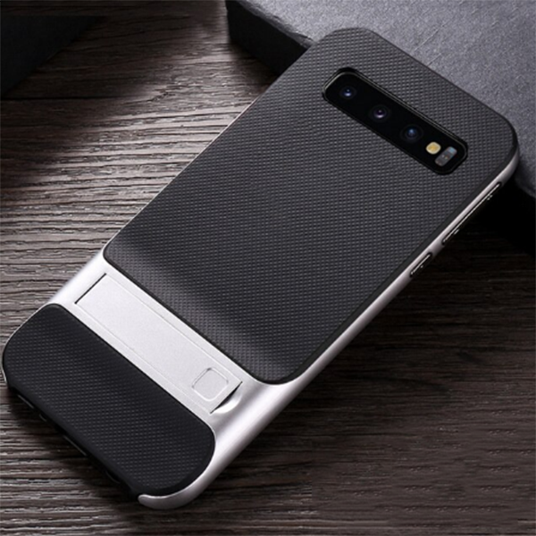 Samsung Galaxy S10 Luxurious Kickstand Full Protection Matte Hybrid Shell