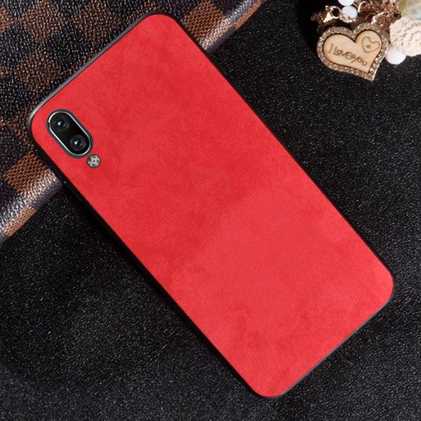 VIVO Y91 Ultra Slim Suede Fabric TPU Cloth Case